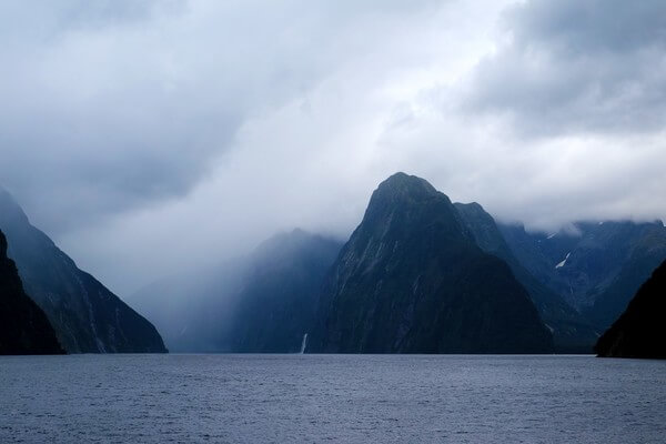 Milford Sound is one of those spots thats going to look amazing no matter what the weather. In fact, the locals reckon it's more beautiful after it rains as the amazing waterfalls appear. This was taken on a rainy day in early February — believe it or not, that's mid summer in New Zealand.
