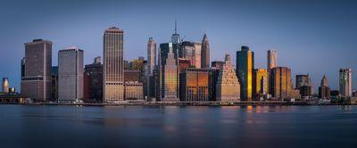 photo locations in New York - Lower Manhattan panorama from the Pier 2