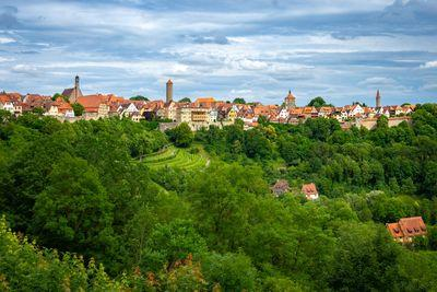 Bayern photo spots - Rothenburg ob der Tauber view from the Burggarten
