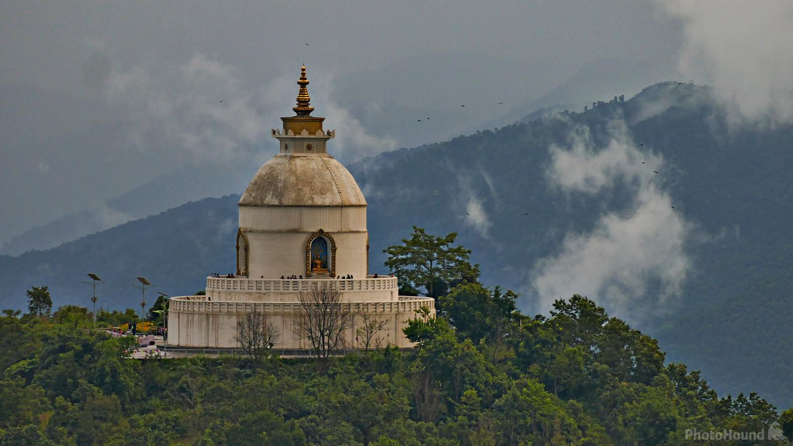 Image of World Peace Pagoda, Pokhara by Dileshwori Joshi