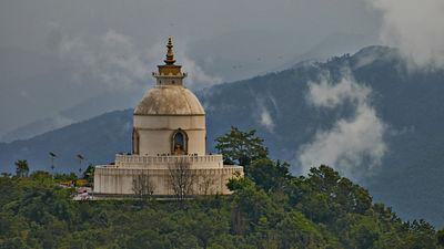 World Peace Pagoda(Pokhara Shanti Stupa) is the pagoda style Buddhist monument on Ananda Hill in Kaski district, Pokhara.