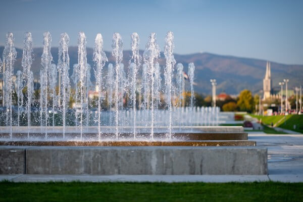 Water fountains in Zagreb