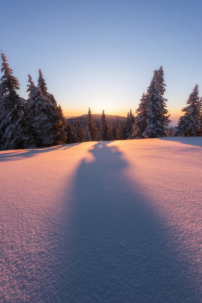 Sunrise in winter at Mala Planina