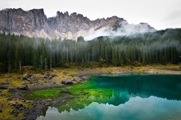 Beautiful colors of Lago di Carezza