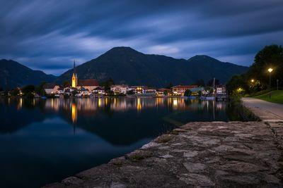 photo locations in Bayern - View of the church of St.Laurentius over Tegernsee