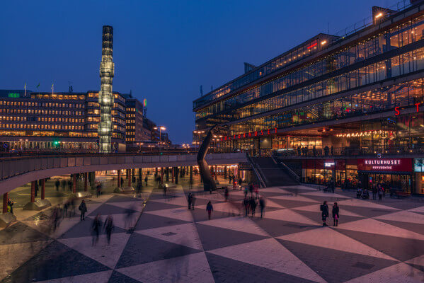 Sergels torg with Cultural center and theater (Kulturhuset)