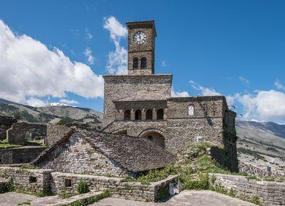 The Castle of Gjirokaster was originally built in the 12th Century, with various additions made over the years, including this clock tower which was built in the 1800s.