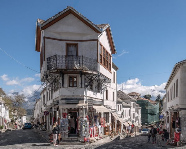 The old town of Gjirokaster is a UNESCO World Heritage Site with many well preserved buildings.