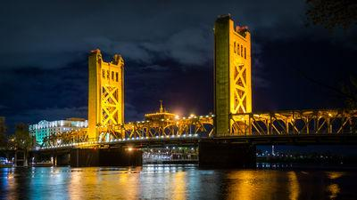 photography locations in California - Tower Bridge West Sacramento