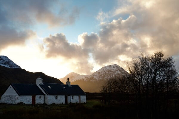 Blackrock cottage late afternoon just before sunset