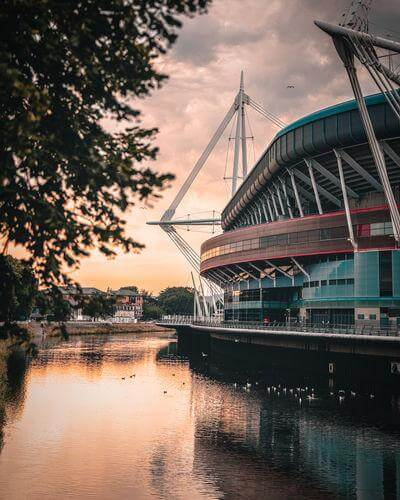 pictures of South Wales - Millennium Stadium & Taff River