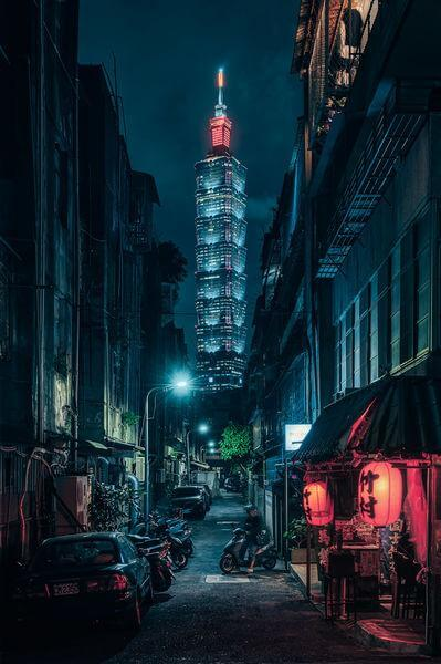 Taiwan photo locations - Taipei 101 alley view