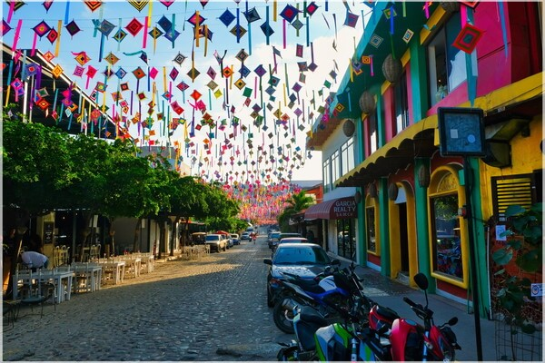 Calle Revolucion is the main street in Sayulita, part of the small town center,