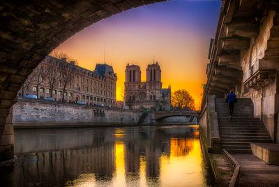 Ile De France photography spots - Cathedral Notre Dame de Paris seen from under the Pont St-Michel, Promenade René Capitan