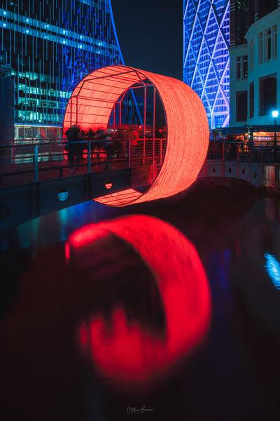images of London - Canary Wharf Winter Lights