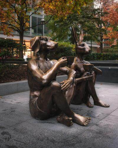 pictures of London - Dogman & Rabbitwoman Sculpture