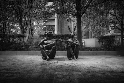 photos of London - Dogman & Rabbitwoman Sculpture