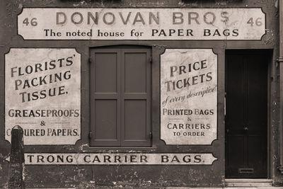 pictures of London - Donovan Bros Vintage Storefront