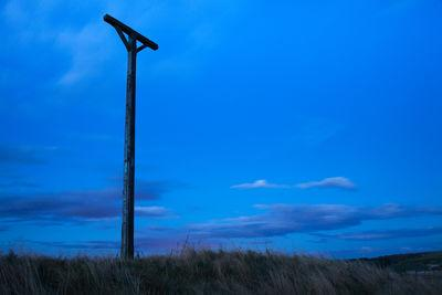 Gallows at dusk
