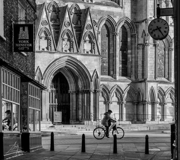 The doors to York Minster from a side street