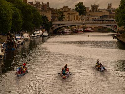 The annual dragon boat race in York