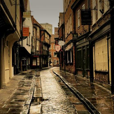 The Shambles after a heavy downpour