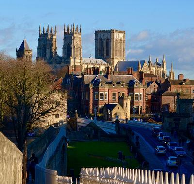 England photography spots - View of York Minster from the City Walls