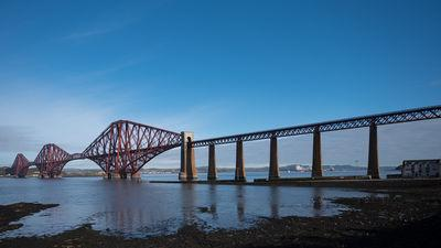 Forth Rail Bridge from underneath