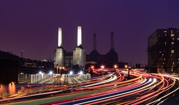 Multiple exposures blended together.  Shot from a service road off of the Ebury bridge