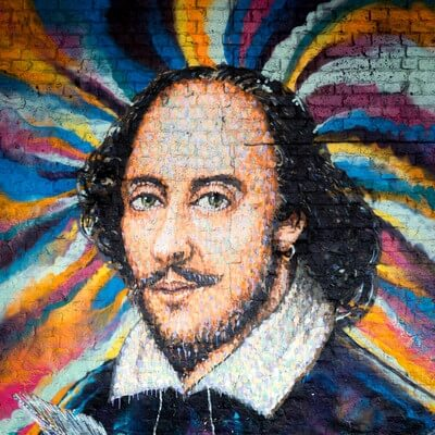 photos of London - Shakespeare Mural