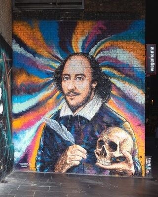 images of London - Shakespeare Mural