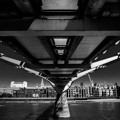pictures of London - Beneath Millennium Bridge (Northbank)