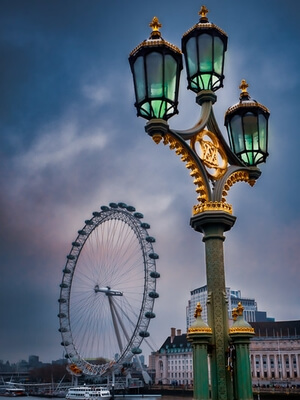 photos of London - The London Eye from Hungerford Bridge