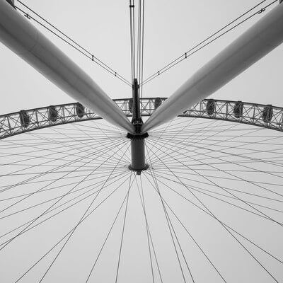 images of London - The London Eye from Hungerford Bridge