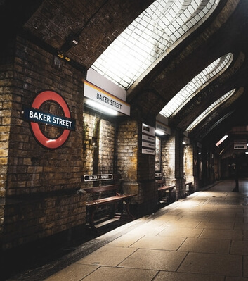 images of London - Baker Street Tube Station