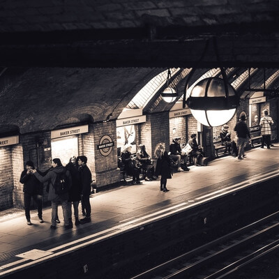 photos of London - Baker Street Tube Station