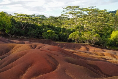 Mauritius photography locations - Seven colored earth of Chamarel, Mauritius