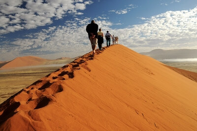 pictures of Sossusvlei - Atop Dune 45