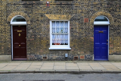 pictures of London - Roupel Street Colorful Doors