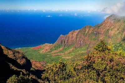This lookout spot is the farthest you can drive on Kauai's west side.  From here, you can park and hike in Waimea Canyon along the Pihea Trail or the Alikai Swamp.