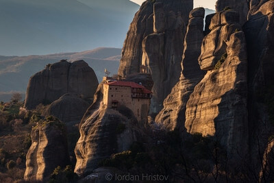 Greece photo locations - Meteora deck Rousanou