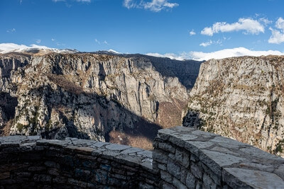 Greece photo locations - Vikos gorge - Oxya viewpoint