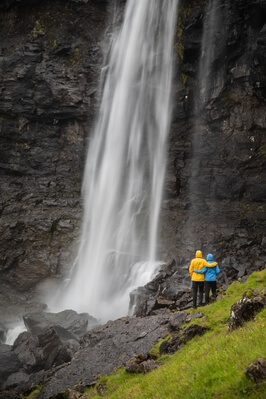 photos of Faroe Islands - Fossá waterfall