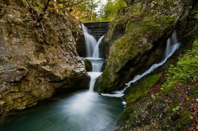 Tolmin photo locations - Valley of stream and waterfalls Gačnik