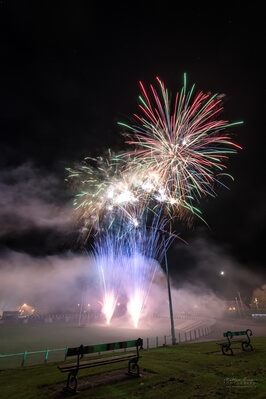 images of South Wales - Carmarthen Park Fireworks