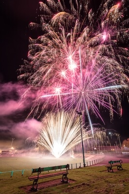 photos of South Wales - Carmarthen Park Fireworks