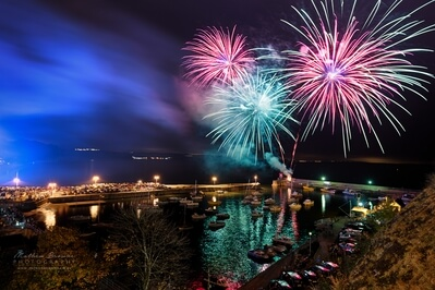 United Kingdom photo events - Saundersfoot Fireworks