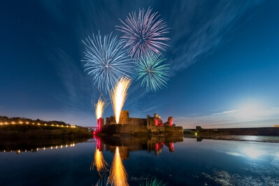 Whats on in United Kingdom - Fireworks at Caerphilly Castle
