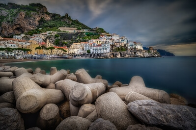 Naples & the Amalfi Coast photography locations - Amalfi - view from the Port Dock