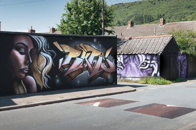 photos of South Wales - Castle Street Murals